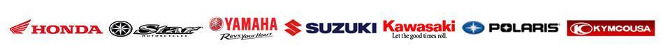 We carry products from Honda, Star, Yamaha, Suzuki, Kawasaki, Polaris, and KYMCO.