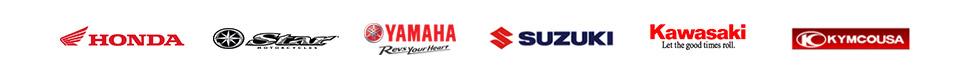 We carry products from Honda, Star, Yamaha, Suzuki, Kawasaki, and KYMCO.