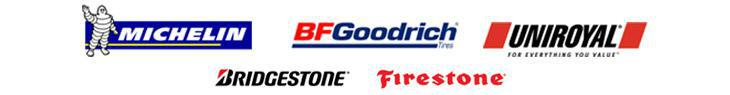 We carry Michelin®, BFGoodrich®, Uniroyal®, Bridgestone, and Firestone.