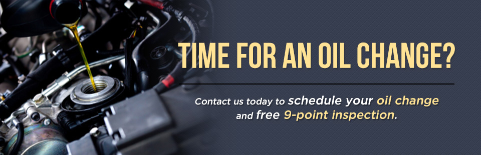 Contact us today to schedule your oil change and free 9-point inspection.