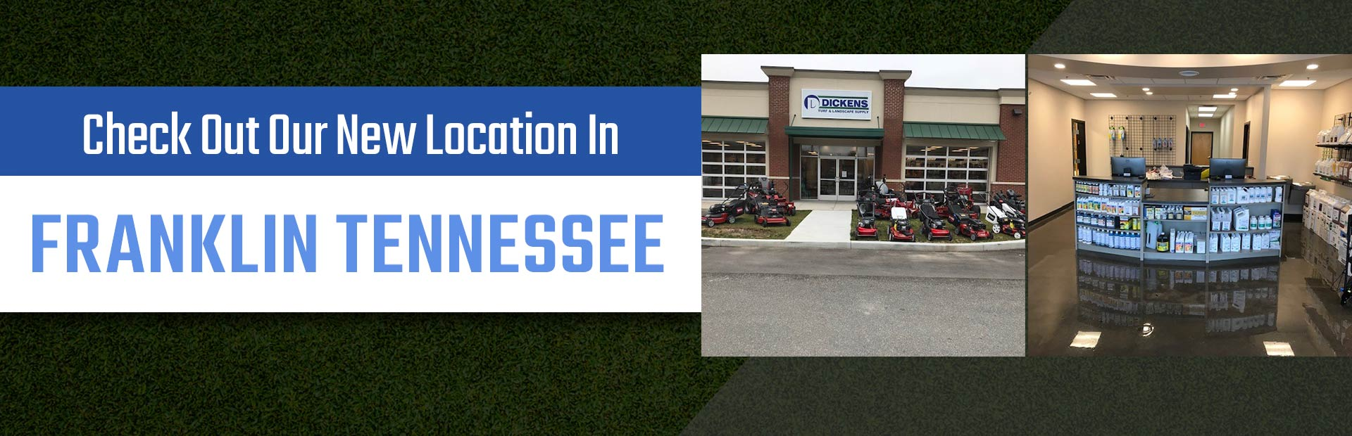 Check out our new location in Franklin Tennessee! Come visit us soon!