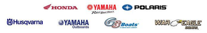 We carry products from Honda, Yamaha, Polaris, Husqvarna, G3 Boats, Yamaha Outboards, and War Eagle Boats.