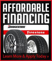 Affordable financing. Bridgestone/Firestone. Learn more and apply today.