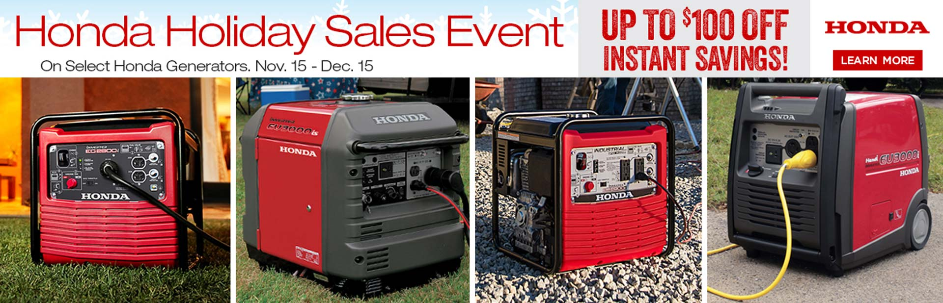 Honda Holiday Savings Event Up To $100 Off Instant Savings!