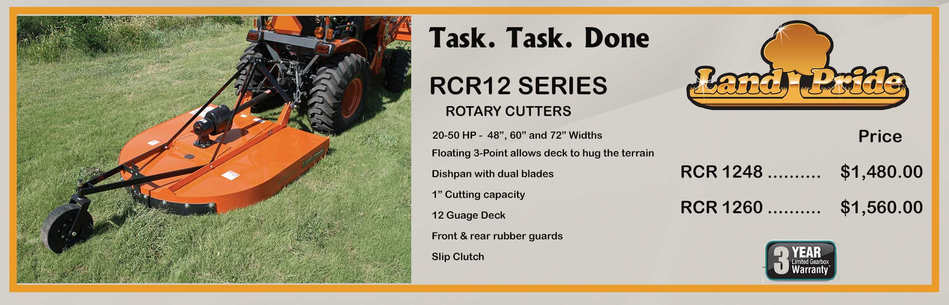 Land Pride Rotary Cutters