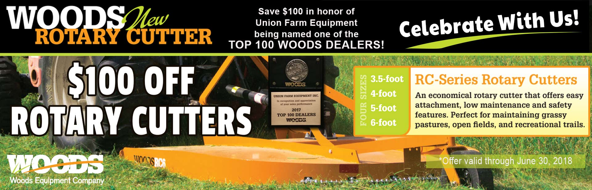 Save $100 On Your NExt Woods Rotary Cutter Purchase