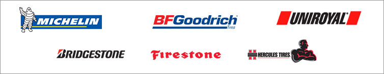 We carry products from Michelin®, BFGoodrich®, Uniroyal®, Bridgestone, Firestone, and Hercules.