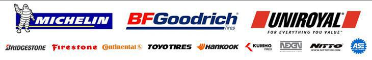 We carry products from Michelin®, BFGoodrich®, Uniroyal®, Bridgestone, Firestone, Continental, Toyo, Hankook, Kumho, Nexen, and Nitto. Our technicians are ASE certified.