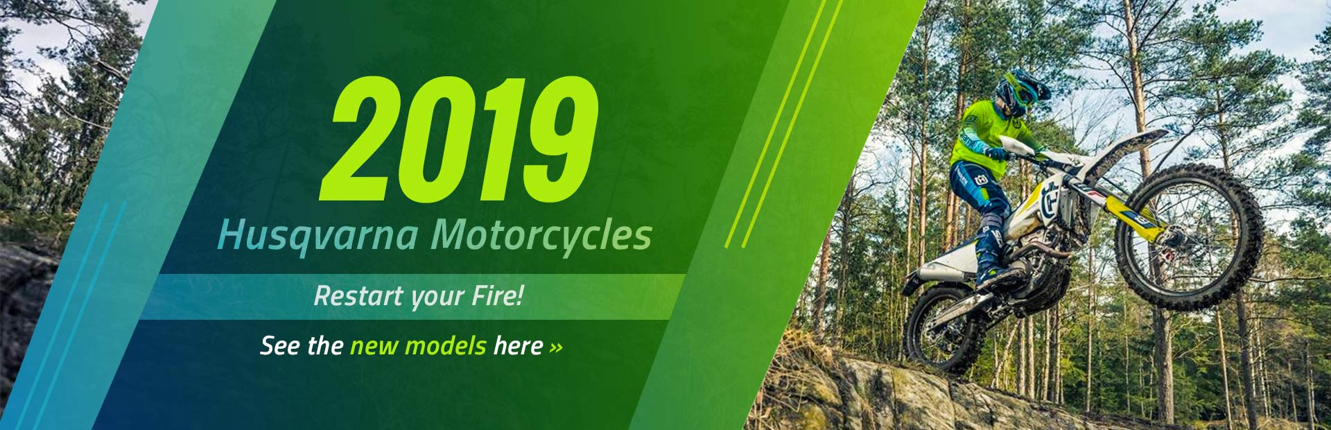 2019 Husqvarna motorcycles: Restart your fire! Click here to view the new models.