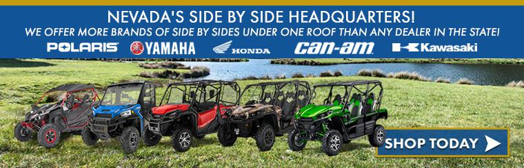 Michael's Cycle Works offers  Polaris, Yamaha, Honda, Can-Am & Kawasaki Side x Sides!