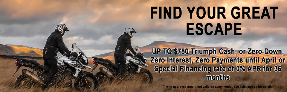Triumph offer OCT 2018