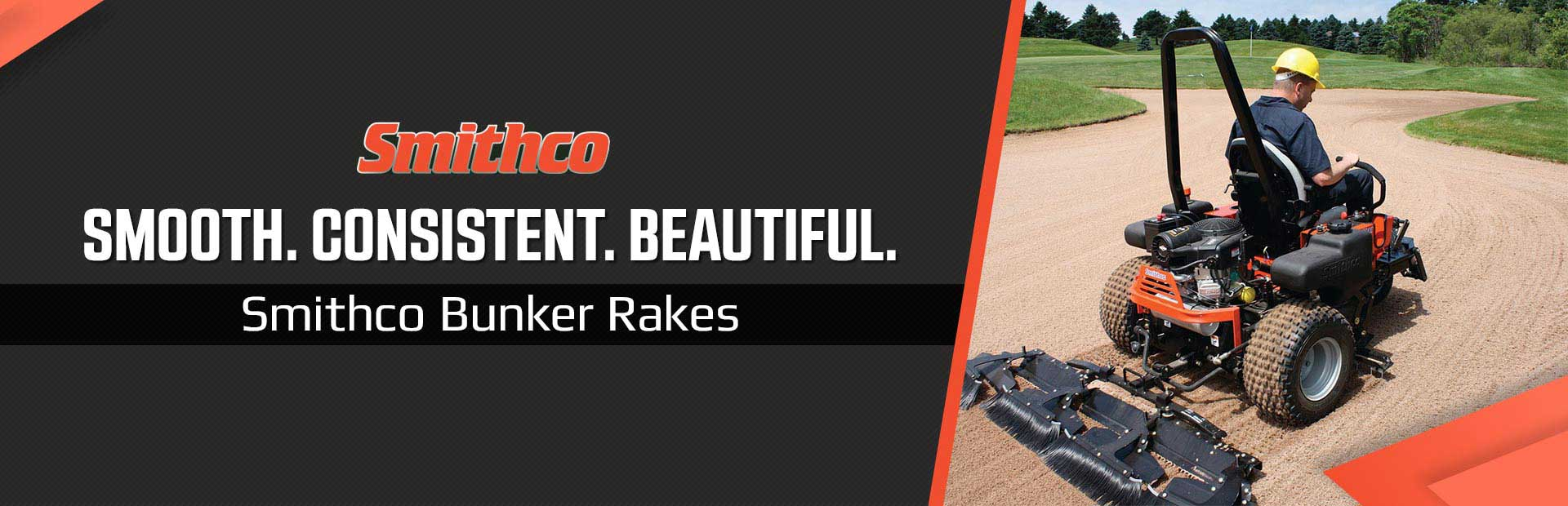 Smithco Bunker Rakes: Smooth. Consistent. Beautiful.