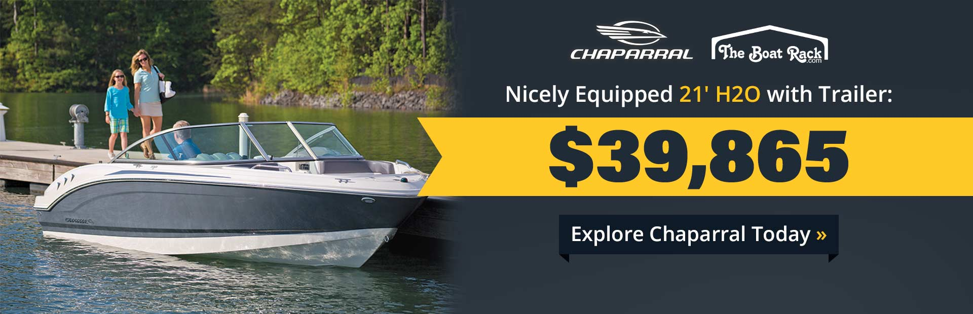 Explore Chaparral today, including a nicely equipped 21' H2O with trailer!
