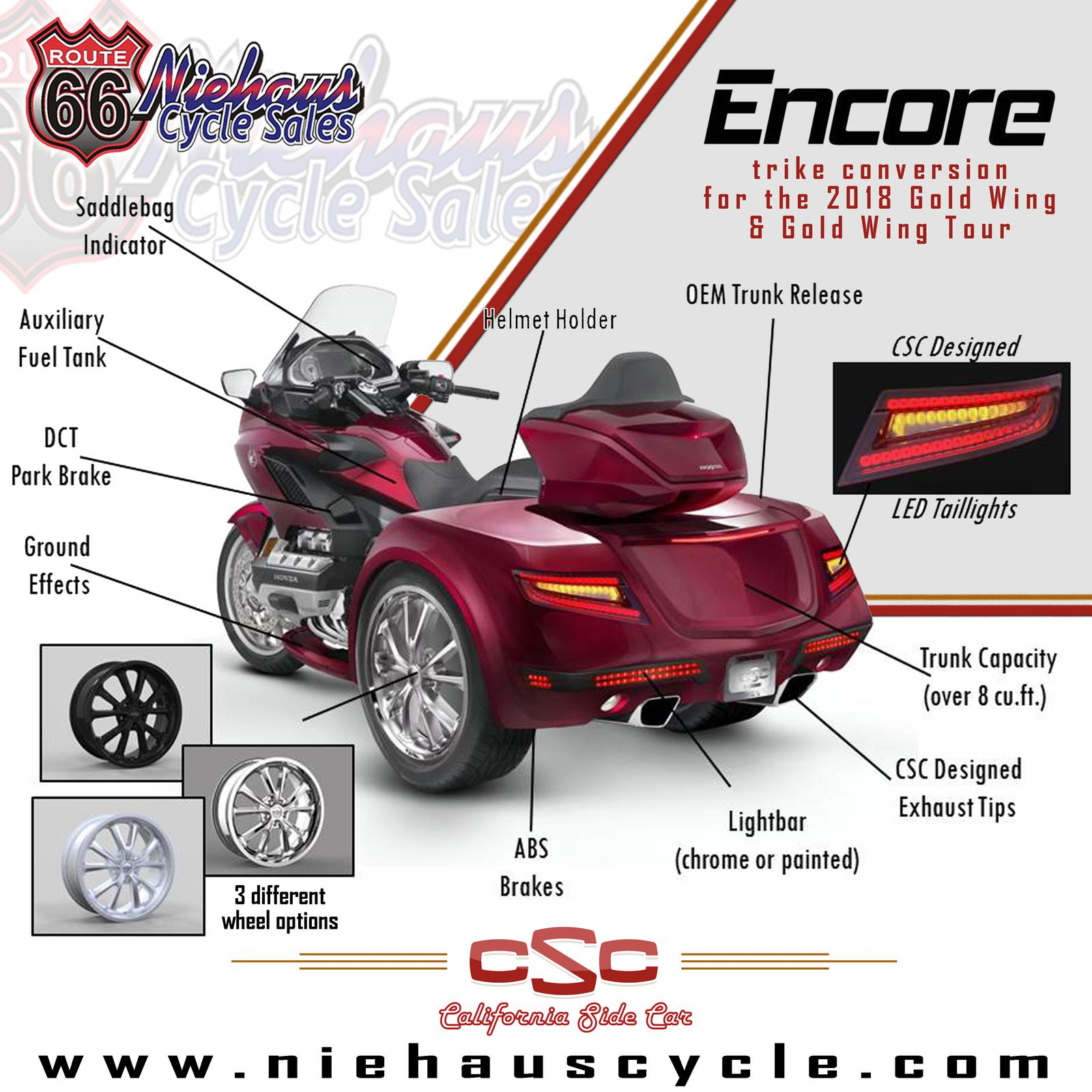 2018 Gold Wing Trikes Niehaus Cycle Sales Litchfield Il 217 324 6565