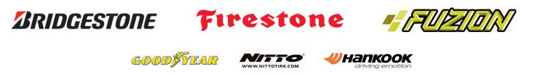 We carry products from Bridgestone, Firestone, Fuzion, Goodyear, Nitto, and Hankook.