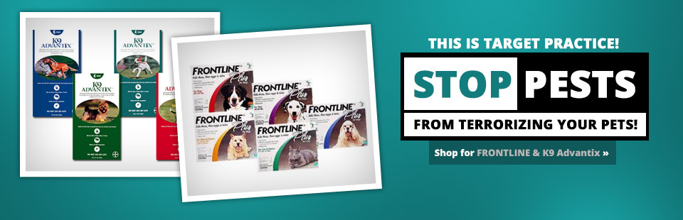 Stop pests from terrorizing your pets! Shop for FRONTLINE & K9 Advantix.