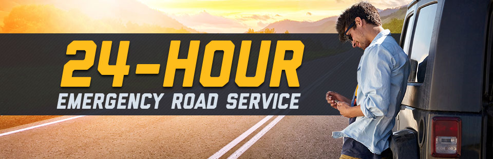 We offer 24-hour emergency road service! Click here for details.