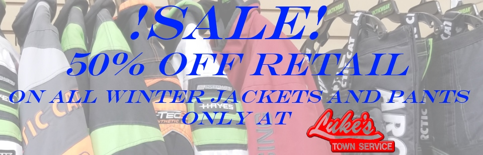 50% Off Winter Jackets and Pants