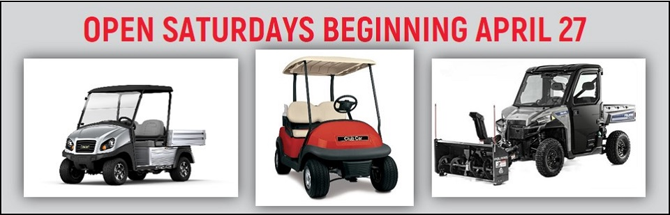 Bennett Golf Cars Open Saturdays starting April 27