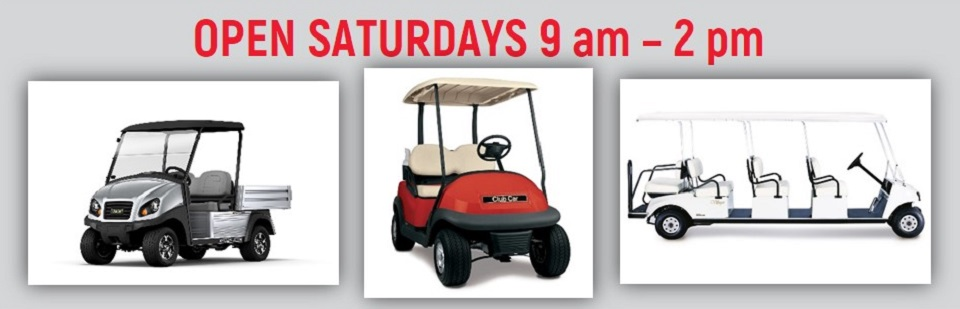 Bennett Golf Cars Open Saturdays 9am to 2pm