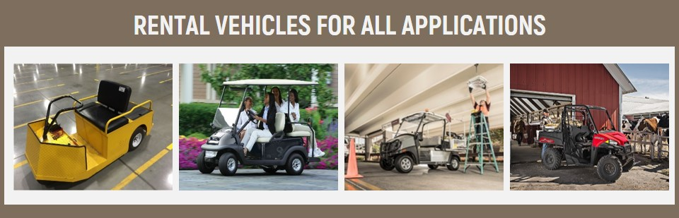 Golf cart rentals and utility vehicle rentals