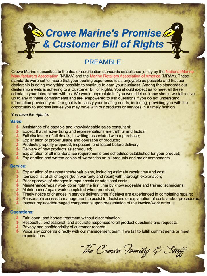 Customer Bill of Rights