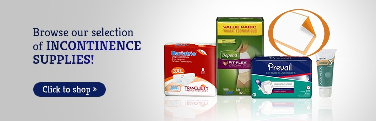 Browse our selection of incontinence supplies!