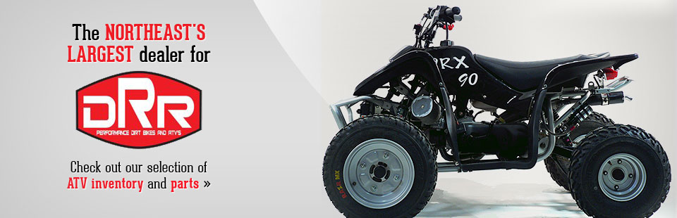 Precision Racing is the Northeast's largest dealer for DRR parts! Click here to check out our selection of ATV inventory and parts.