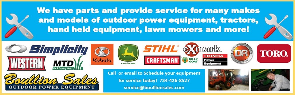 Parts & Service available at Boullion Sales