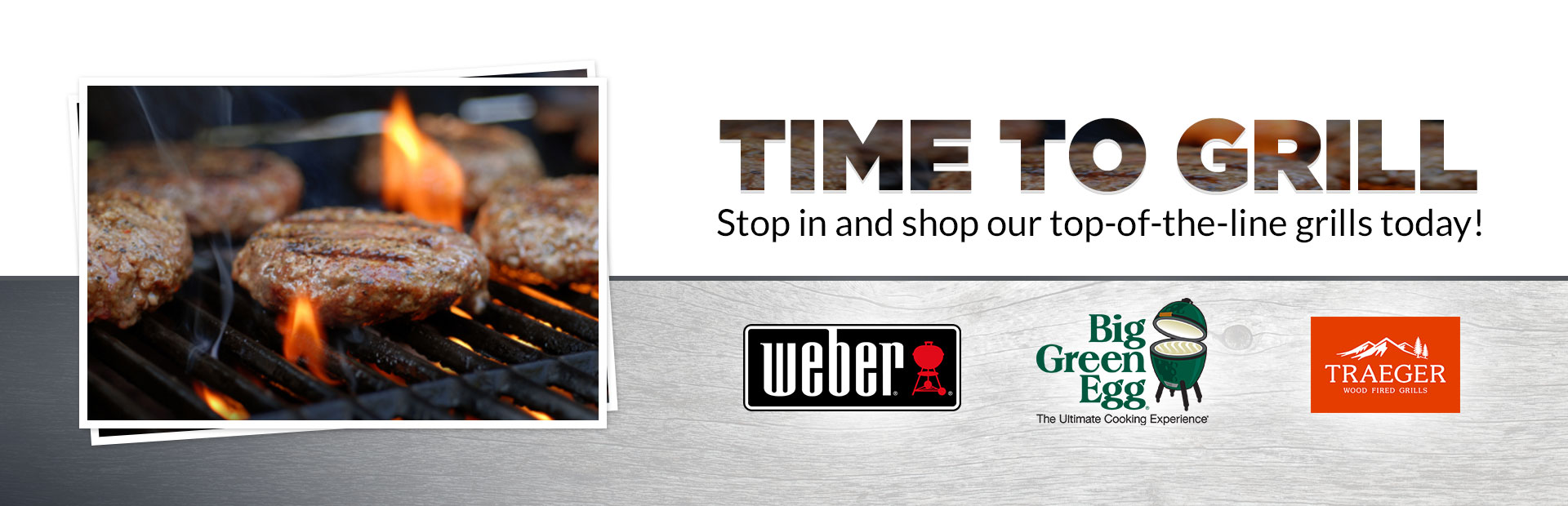 Stop in and shop our top-of-the-line grills today! Contact us for details.