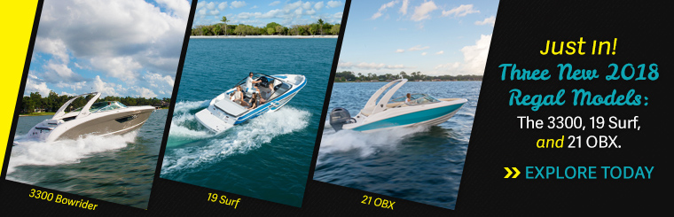 Shop Regal's 3 new models - the 3300, 19 Surf, and 21 OBX at Ray Clepper! Just outside Columbia, SC!