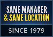 Same manager and same location since 1979