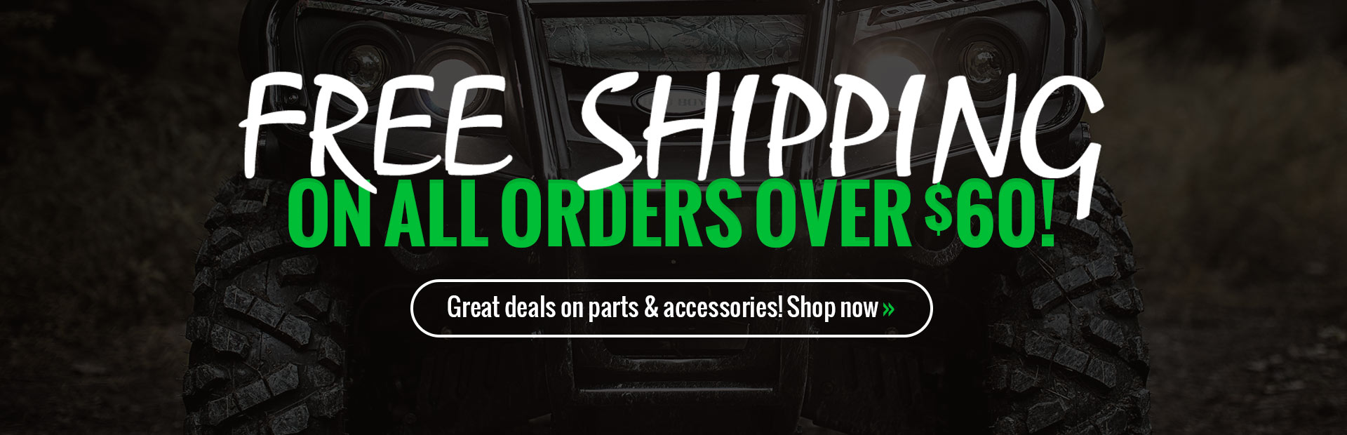 Get free shipping on all orders over $60!
