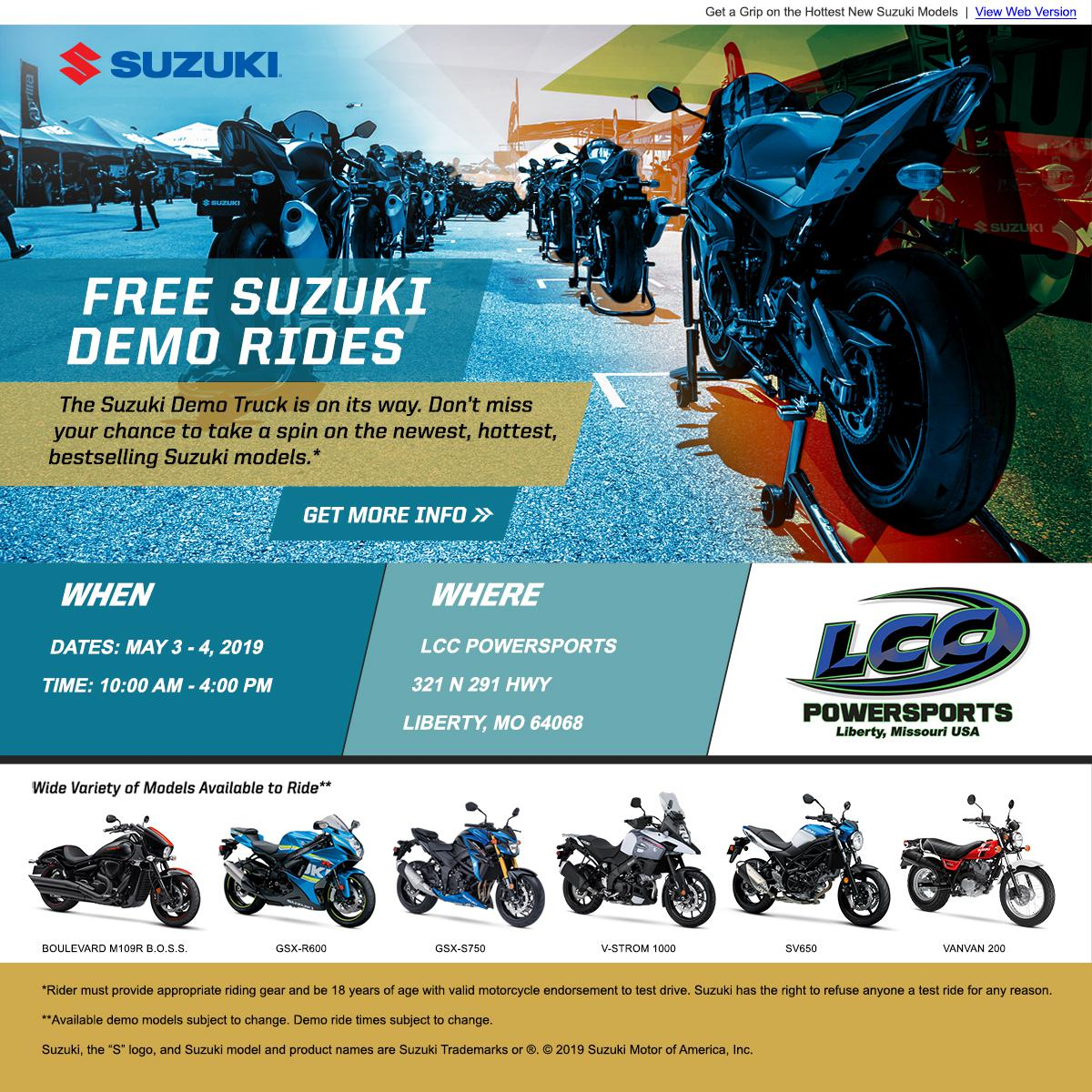 Suzuki demo event