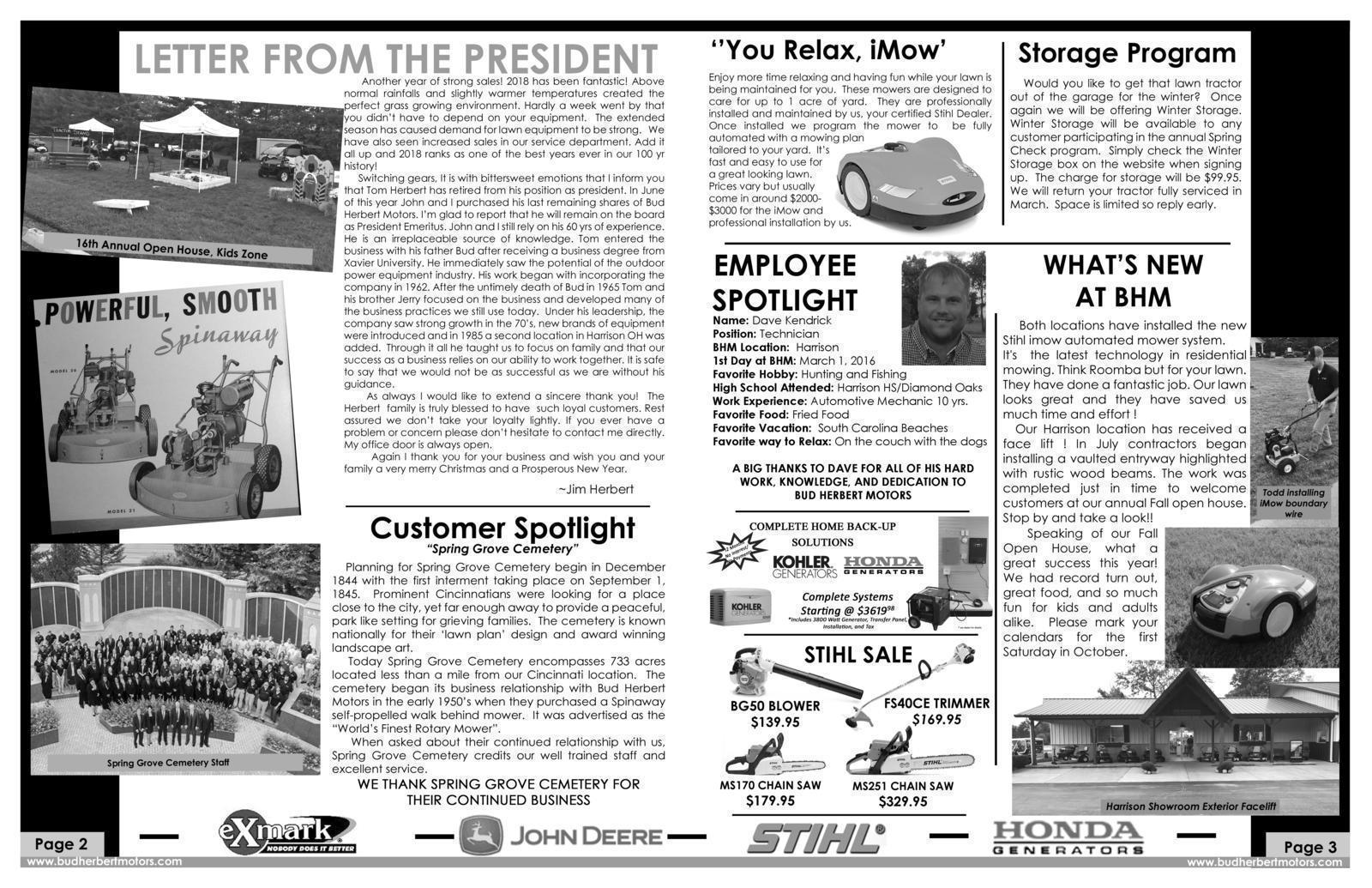 Inside of newsletter 2018-2019