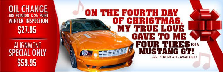 Gift Certificate, Oil Change and Alignment Special.