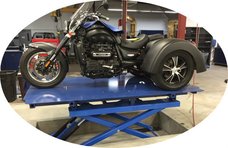 2015 Triumph Rocket III Trike on Service Lift