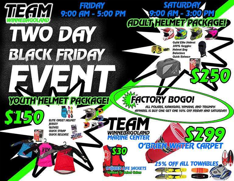 BLACK FRIDAY SNOWMOBILE GEAR SALE OSHKOSH WI