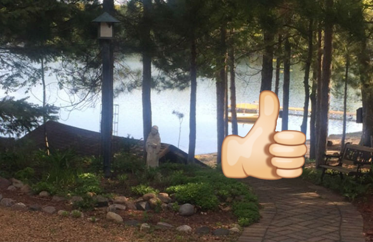 Waubee Lake thumbs up
