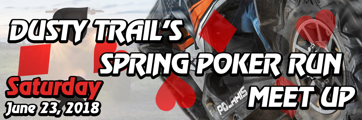 dusty trails spring poker run banner WITH DATE