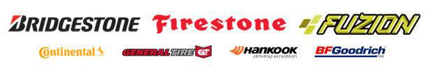 We carry products from Bridgestone, Firestone, Fuzion, Continental, General, Hankook, and BFGoodrich®.