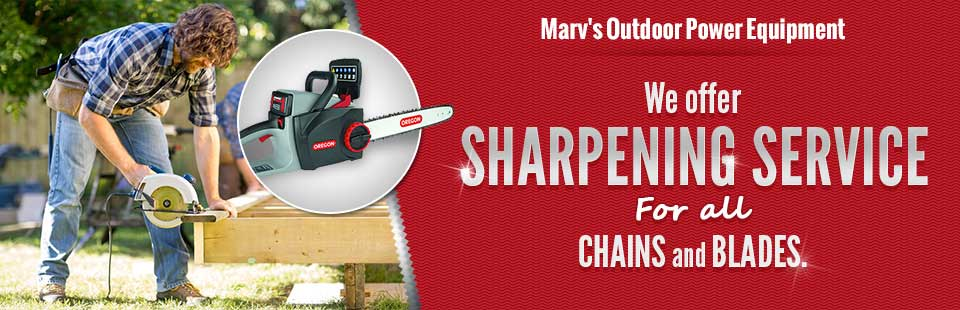 We offer sharpening service for all chains and blades.