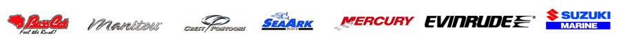 We carry products from Bass Cat, Manitou, Crest Pontoons, SeaArk, Mercury, Evinrude, and Suzuki.
