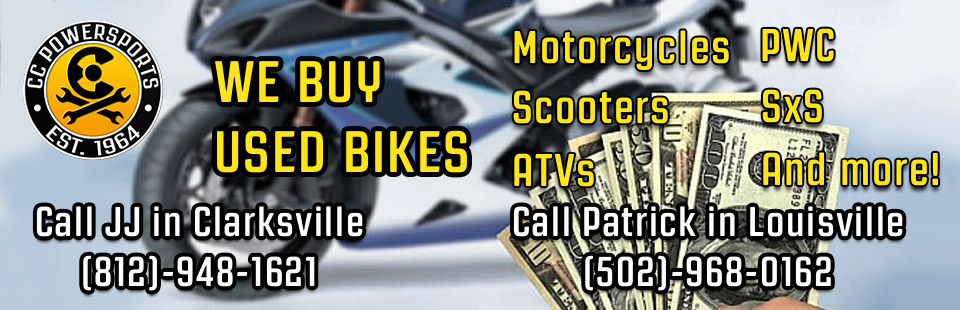 Now Looking For Gently Used Motorcycles