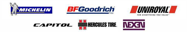 We carry products from Michelin®, BFGoodrich®, Uniroyal®, Capitol, Hercules Tire, and Nexen.