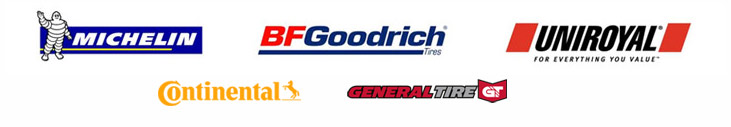 We carry products from Michelin®, BFGoodrich®, Uniroyal®, Continental, and General.
