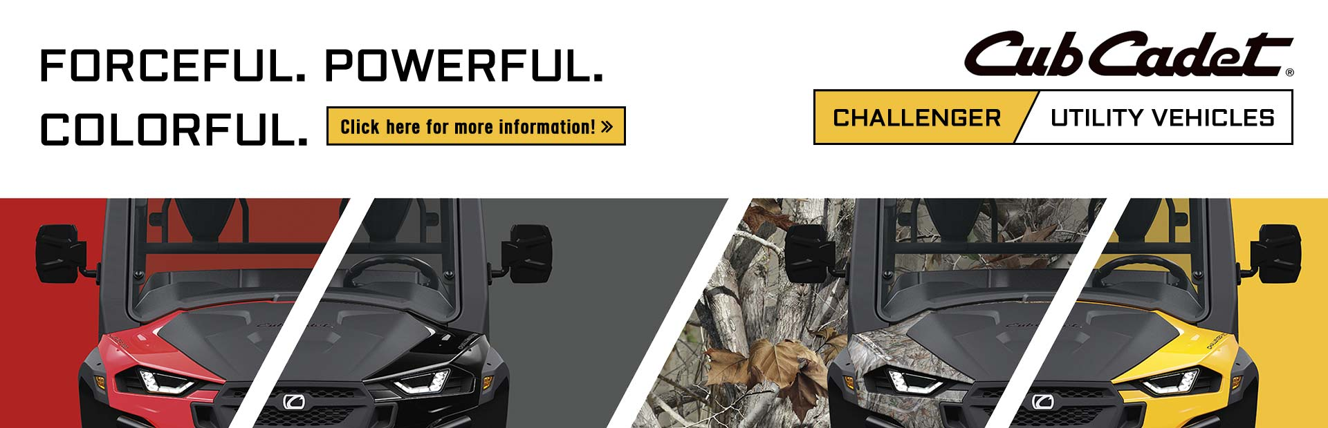Cub Cadet Challenger Utility Vehicles: Click here for more information!