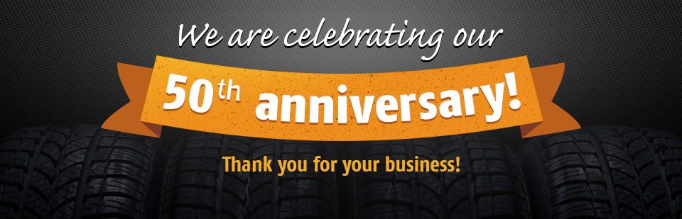 We are celebrating our 50th anniversary! Thank you for your business!