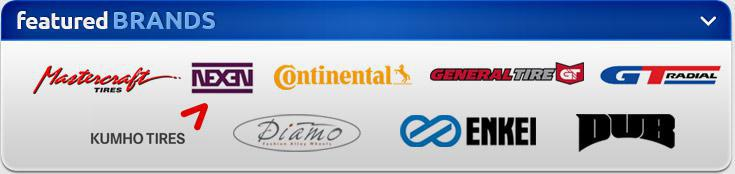We carry products from Mastercraft, Nexen, Continental, General, GT Radial, Kumho, Diamo, Enkei, and Dub.