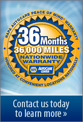 We Offer a Standard 3-Year 36,000 Mile Warranty! Contact us today to learn more »